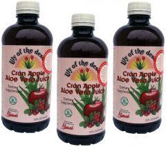 3 palack Aloe Berry juice vörös-áfonyával és almával