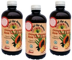 3 palack Aloe Vera juice papayával és naranccsal