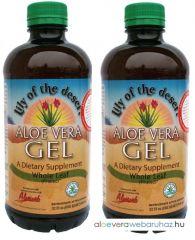 2 palack Aloe Vera natúr GÉL (teljes levelű)