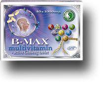 B-Max Multivitamin és Aktív Ginseng tabletta