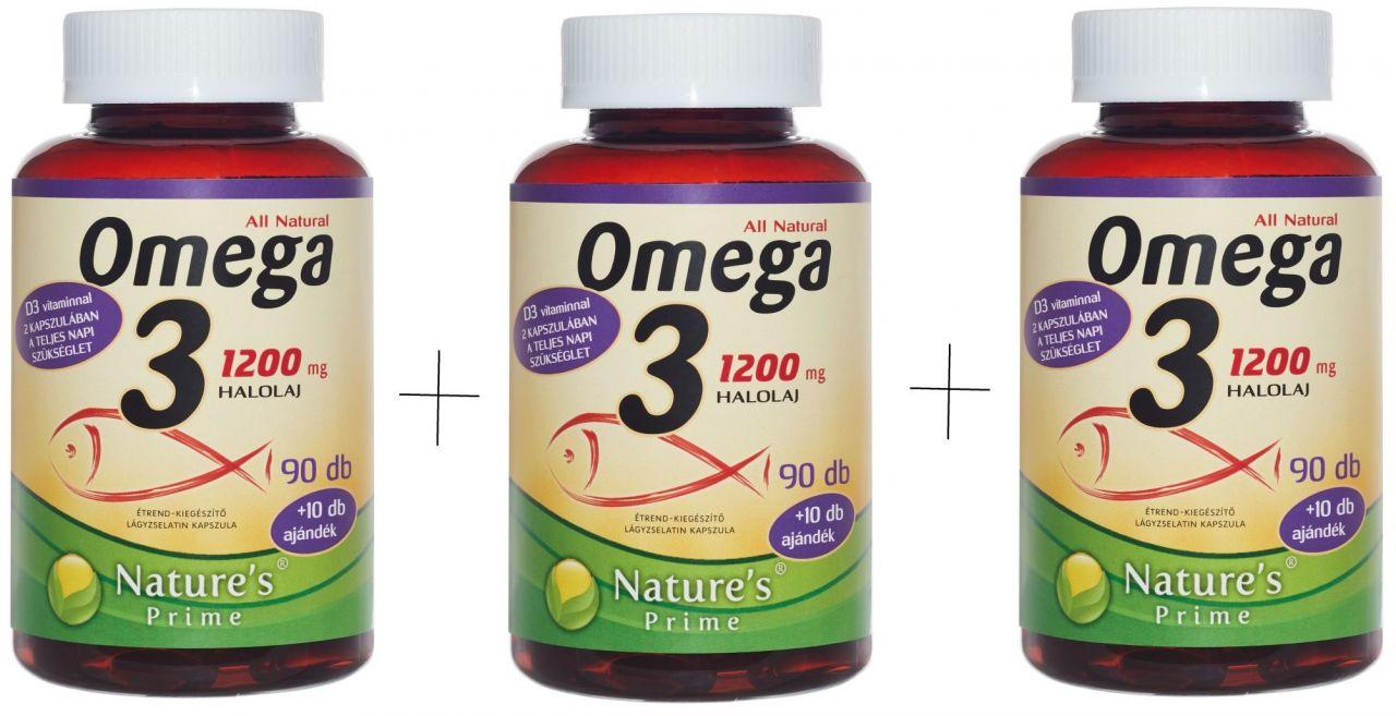 300db OMEGA 3 vitamin, hozzáadott Extra D3-vitaminnal.
