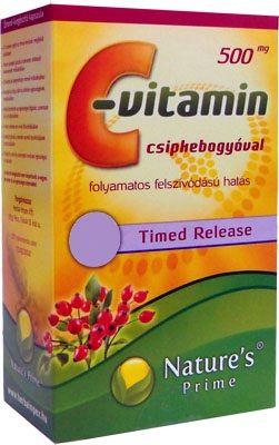 11.000 Ft. feletti vásárlásnál választható ajándék! 500mg C-vitamin - csipkebogyó (45db).