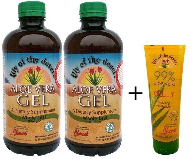 2 palack Aloe Vera Gél + AJÁNDÉK Aloe Vera Gelly