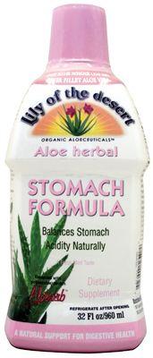Aloe Vera gyomor formula.