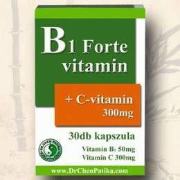 B1 Forte Vitamin, idegrendszer, a szív és az izmok normál működéséhez.