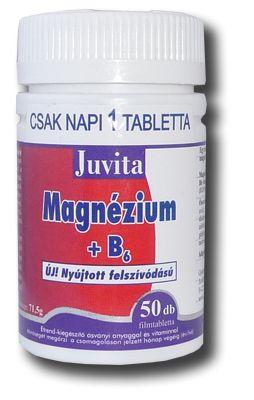 JutaVit Magnézium + B6 nyújtott felszívódású tabletta (50db)