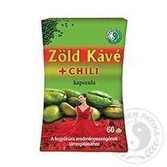 Zöld Kávé + Chili kapszula 60db