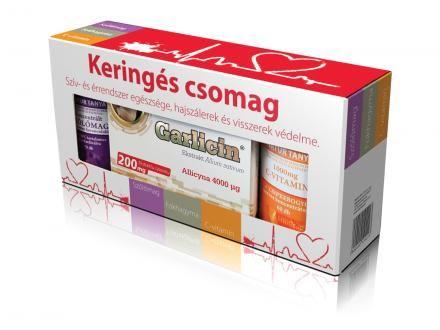 Keringés csomag - magas vérnyomás, érelmeszesedés, szívbántalmak, seprűvénák és rozácea.