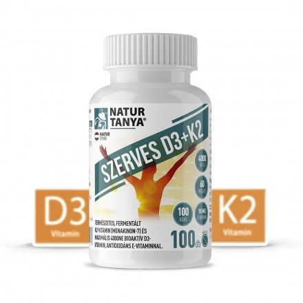 D3 és K2-VITAMIN EGYÜTT! 4000IU D3-vitamin és 60mcg K2 kivonat 1 tablettában! 100db