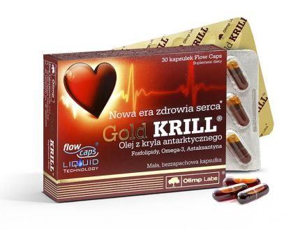 Gold Krill olaj - Standardizált, szagtalan, adalékanyag-mentes, szabadalmazott FlowCaps™tokban.