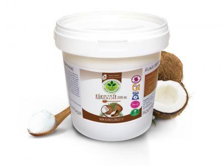 Kókuszzsír. 100% szűrt, nem hidrogénezett, természetes, és többször is felhasználható. 1kg