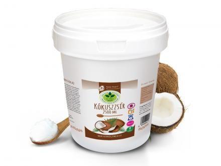 Kókuszzsír. 100% szűrt, nem hidrogénezett, természetes, és többször is felhasználható. 2,5kg