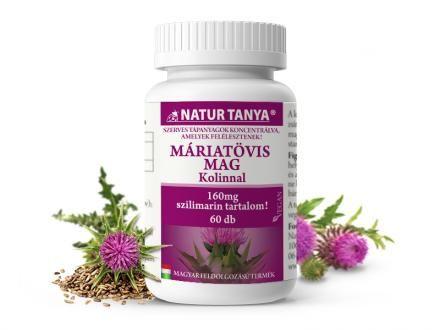 Szerves Máriatövis mag kivonat kolinnal - 160mg szilimaron tartalommal a máj egészségéért!