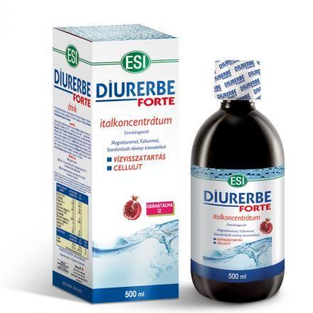 Diurerbe Forte italkoncentrátum, gránátalma íz – Vízvisszatartás és cellulit ellen. 500ml