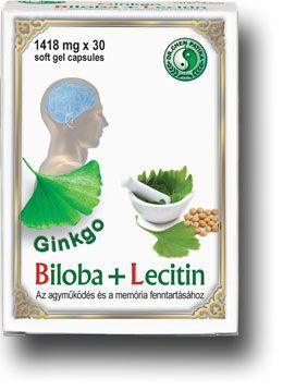 Ginkgo Biloba + Lecitin lágyzselatin kapszula - Dr. Chen Patika