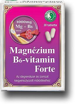 Magnézium B6-vitamin Forte tabletta - Dr Chen Patika